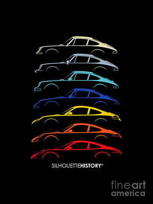 Boxer Sports Car Silhouettehistory Poster by Gabor Vida