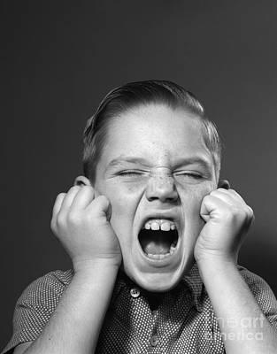 Boy Screaming, C.1950s Poster by Debrocke/ClassicStock