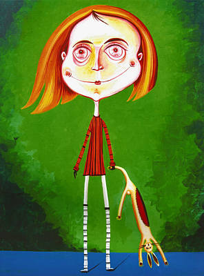 Boy With Toy Poster by Tiberiu Soos