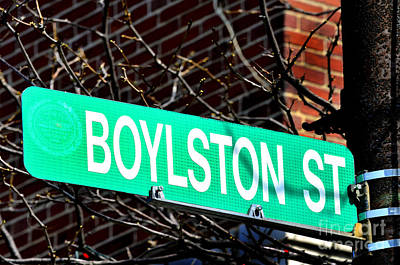 Boylston Street In Boston Site Of Bombings Poster by Lane Erickson