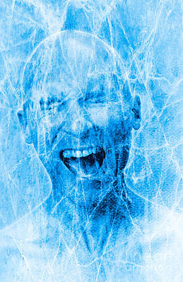 Brain Freeze Poster by George Mattei
