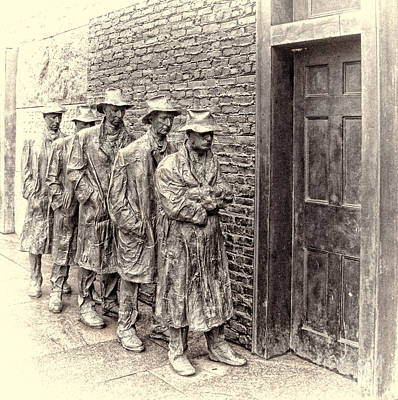 Breadline At Fdr Memorial In Washington Dc Poster by Jack Schultz