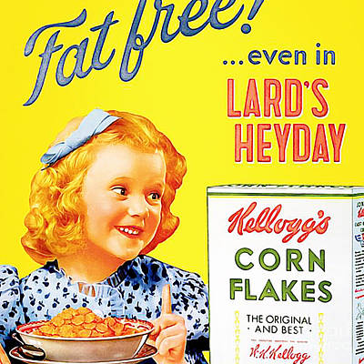 Breakfast Cereal Kelloggs Corn Flakes 20160219 Square Poster by Wingsdomain Art and Photography