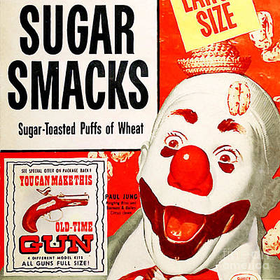 Breakfast Cereal Sugar Smacks Pop Art Nostalgia 20160215 Square Poster by Wingsdomain Art and Photography