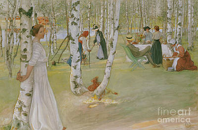 Breakfast In The Open, 1910 Poster by Carl Larsson