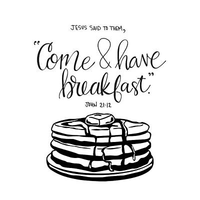 Breakfast Poster by Nancy Ingersoll