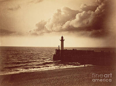 Breakwater At Sete Poster by Gustave Le Gray
