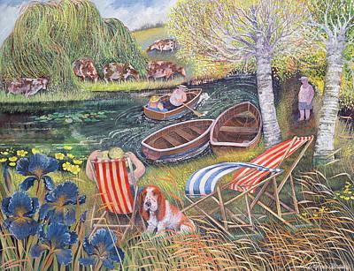 Breezy River Poster by Lisa Graa Jensen