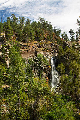 Bridal Veil Falls Spearfish Canyon South Dakota Poster by Carol Mellema