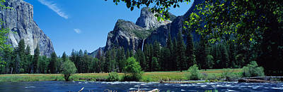 Bridalveil Falls & Merced River Valley Poster by Panoramic Images