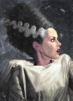 Bride Of Frankenstein Poster by Taylan Soyturk