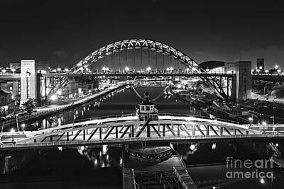 Bridges Over The River Tyne Poster by David Lewins