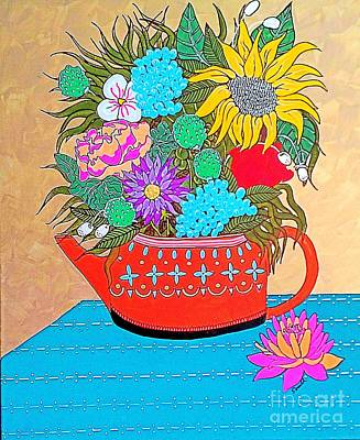 Bright Bouquet Poster by Amy Sorrell