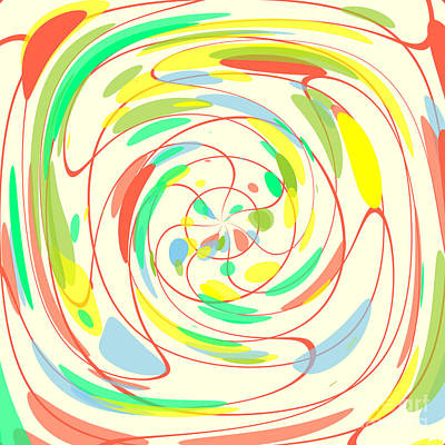 Bright Colors Abstract Poster by Gaspar Avila