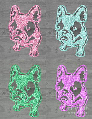 Bright Frenchies Poster by Barbara  Campbell
