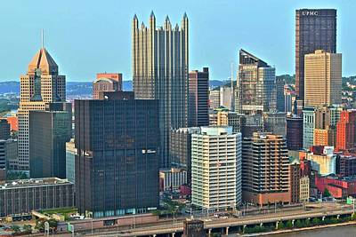 Bright Pittsburgh Day Poster by Frozen in Time Fine Art Photography