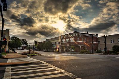 Bright Sun In Murphy North Carolina Poster by Greg Mimbs