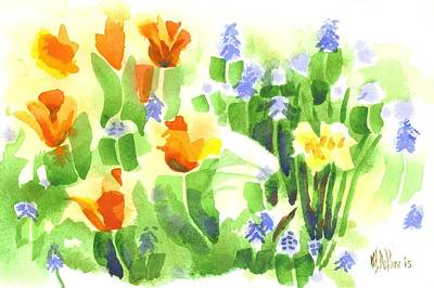 Brightly April Flowers Poster by Kip DeVore