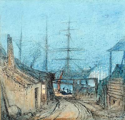 British Chatham Dockyard Poster by Donald Maxwell