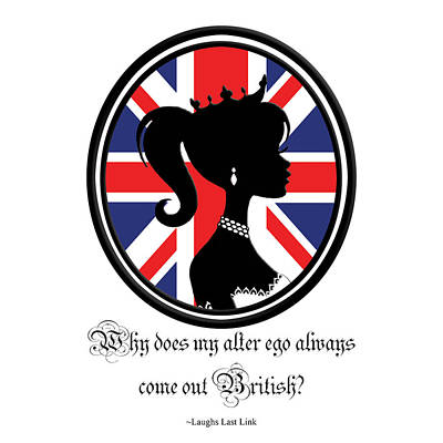 British Quote White Poster by Amanda Schambon