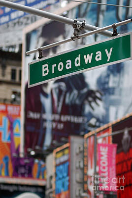Broadway Times Square New York Poster by Amy Cicconi