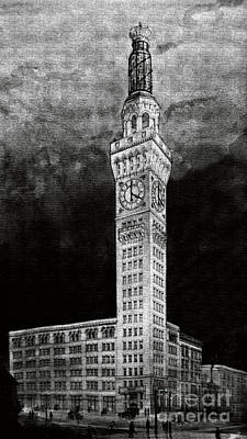Bromo Seltzer Charcoal Poster by Jost Houk