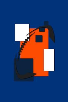 Broncos Abstract Shirt Poster by Joe Hamilton