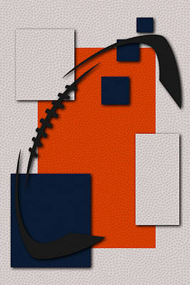 Broncos Football Art Poster by Joe Hamilton