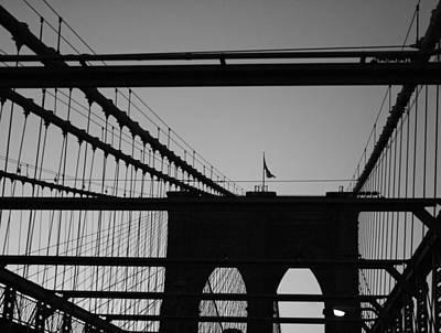 Brooklyn Bridge Brooklyn Bound Poster by Christopher Kirby