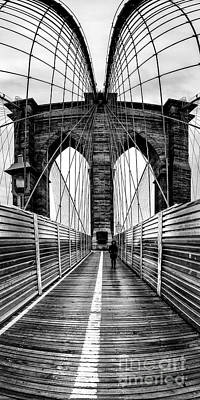 Brooklyn Bridge Panorama Poster by John Farnan