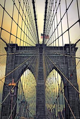 Brooklyn Bridge Twilight Poster by Jessica Jenney