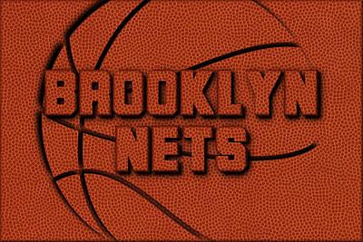 Brooklyn Nets Leather Art Poster by Joe Hamilton