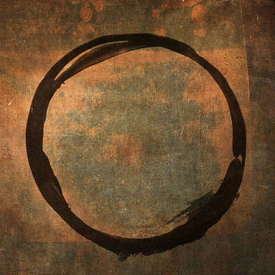 Enso Poster featuring the painting Brown Enso by Julie Niemela
