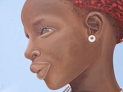 Brown Introspection Poster by Kaaria Mucherera