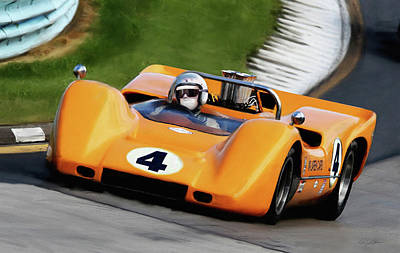 Bruce Mclaren Poster by Peter Chilelli