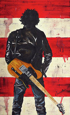 Bruce The Boss Springsteen Poster by Francesca Agostini