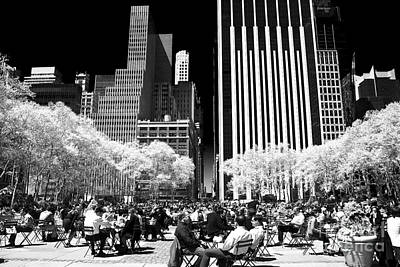 Bryant Park Lunch Poster by John Rizzuto