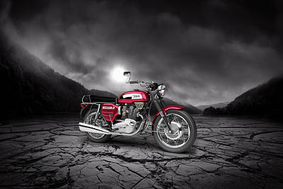 Bsa Rocket 3 1969  Mountains Poster by Aged Pixel