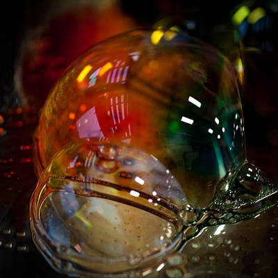 Bubbles Abstract 2 Poster by David Patterson