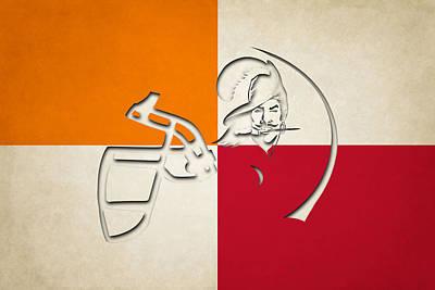 Buccaneers Helmet Art Poster by Joe Hamilton