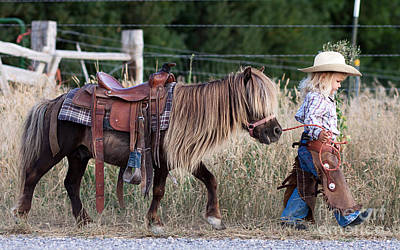 Buckaroo Cowgirl Poster by Cindy Singleton