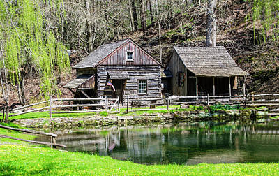 Bucks County In The Spring - Cuttalossa Mill Poster by Bill Cannon