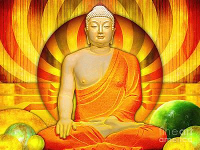Buddha Balance Poster by Khalil Houri
