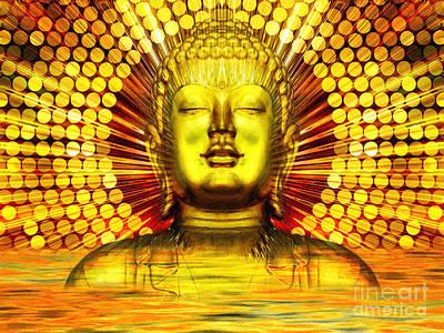 Buddha Effulgence Poster by Khalil Houri