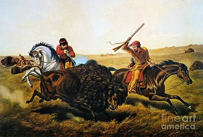 Buffalo Hunt, 1862 Poster by Granger
