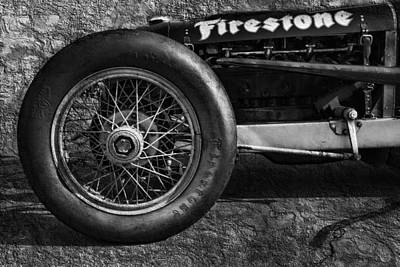 Buick Shafer 8 Bw Poster by Peter Chilelli