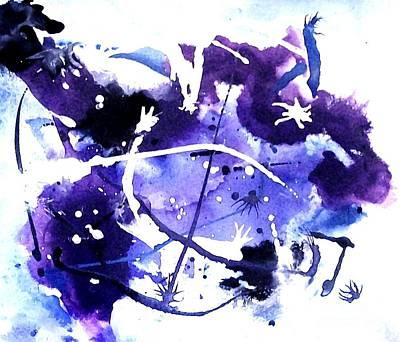 Bull Rider In The Sky Poster by Marsha Heiken