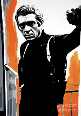 Bullitt Poster by Luis Ludzska