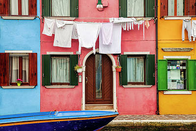 Burano Street Poster by Andrew Soundarajan