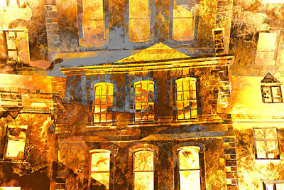 Burning Buildings Poster by Tom Gowanlock